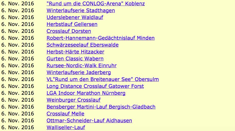 Календарь марафонов. Германия