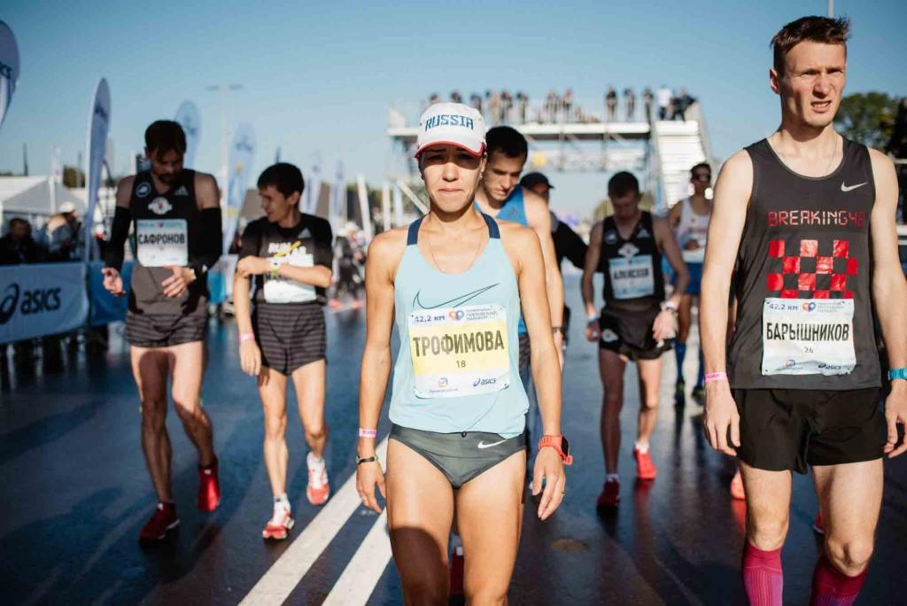 Сардина Трофимова - победительница Московского марафона