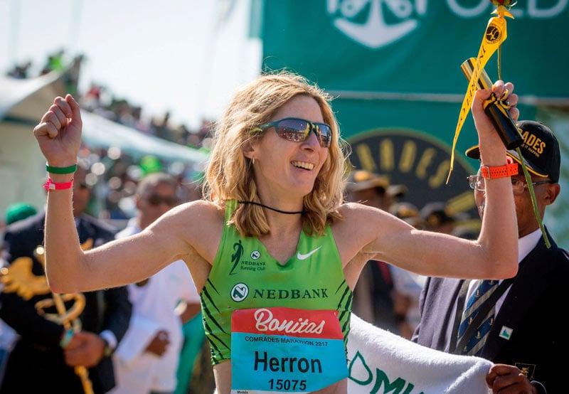 Победительница марафона Comrades Camille Herron