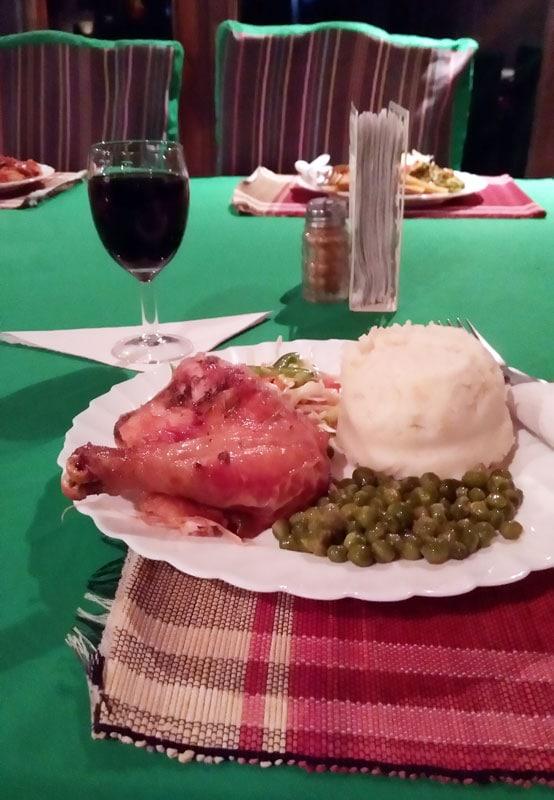 Угали с курицей и овощами