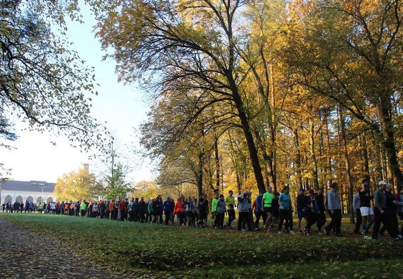 172 человека вышли на старт дебютного parkrun Петергоф