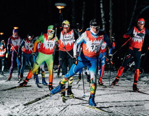 Александр Легков одержал победу в ночной лыжной гонке Grom Ski Night 15K в Мещерском парке