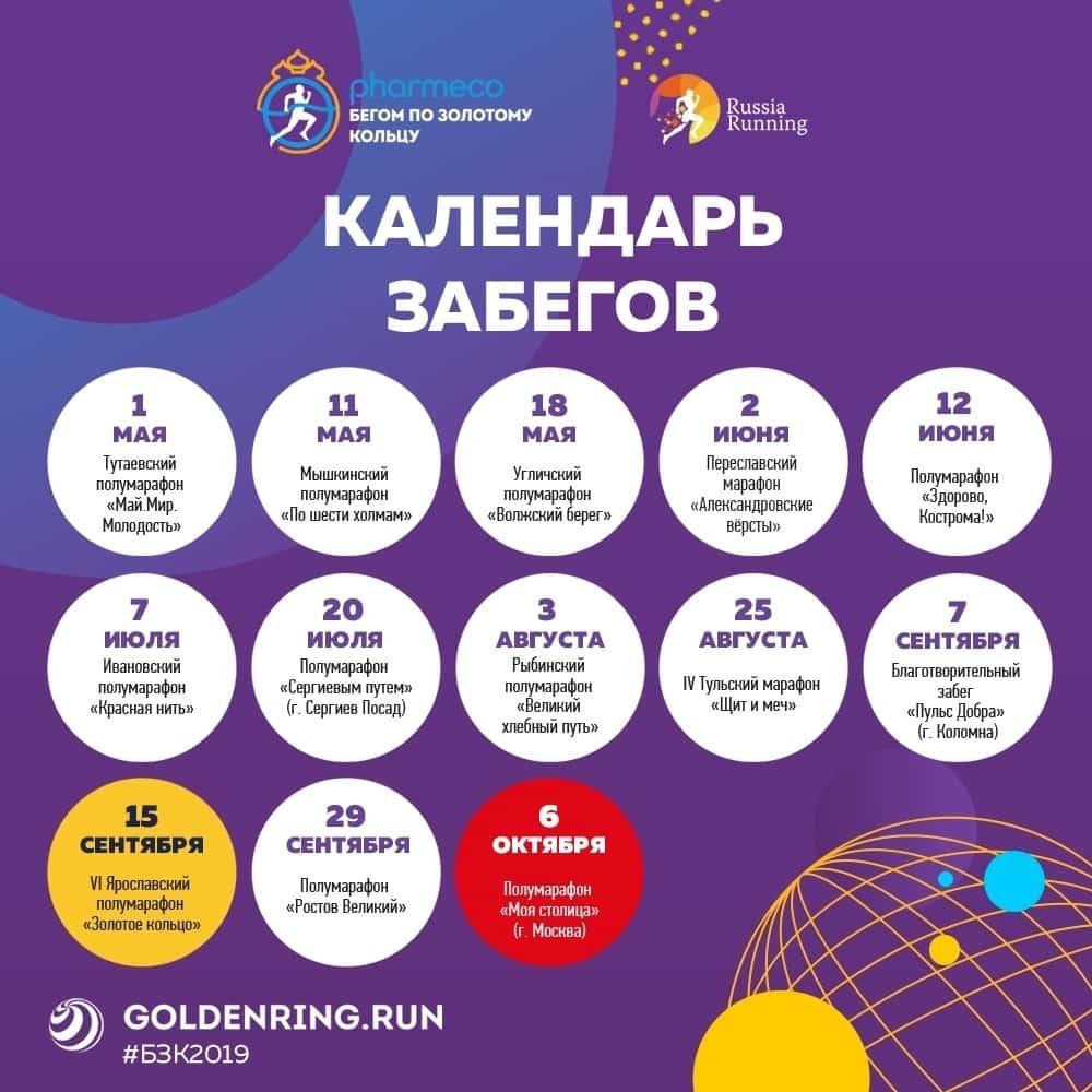 Бегом по Золотому кольцу 2019: открыта регистрация на юбилейный сезон!