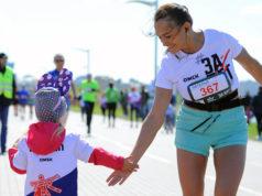 Рекордное количество участников собрал на старте Весенний полумарафон в Омске