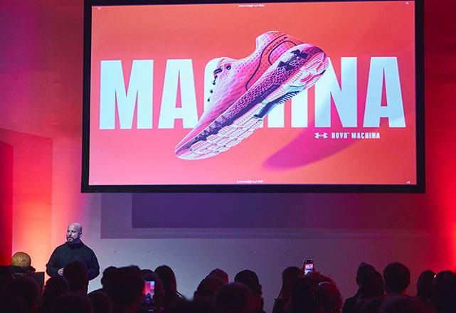 Презентация кроссовок для бега Under Armour Hovr Machina