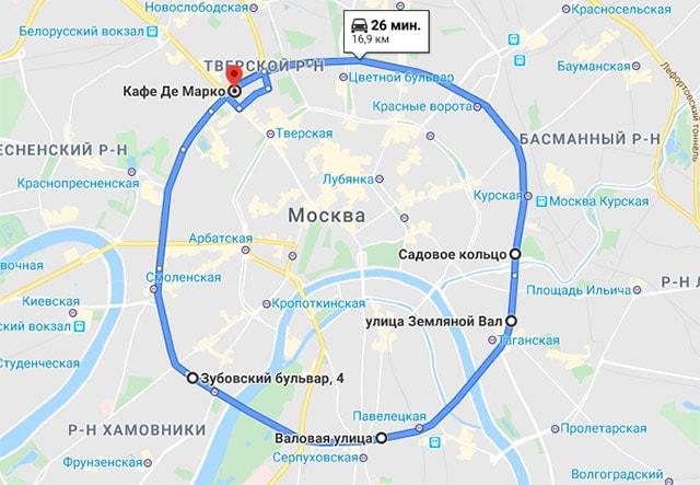 5 туристических беговых маршрутов Москвы