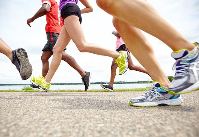 Длина шага человека при ходьбе и беге