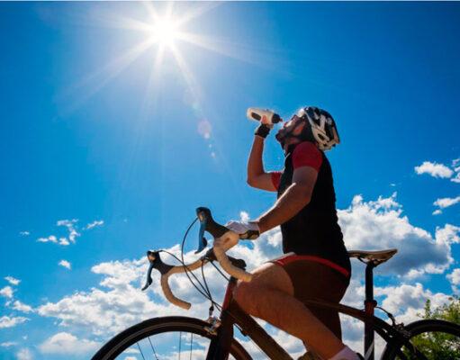 Как ездить на велосипеде в жару