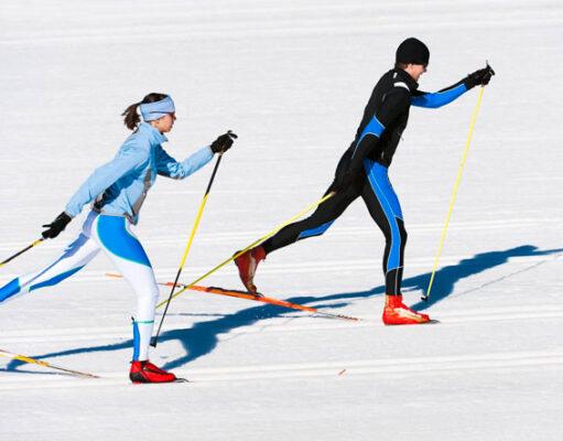 Какие мышцы работают при езде на лыжах