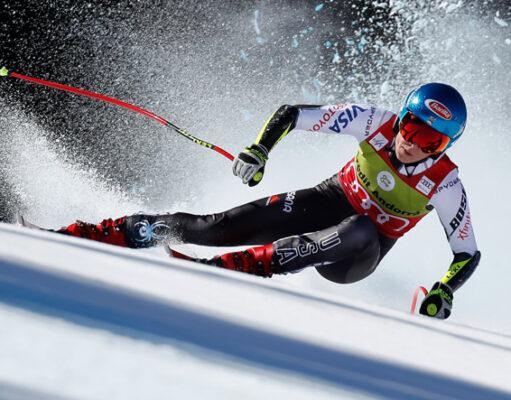 Средняя и максимальная скорость лыжника на беговых и горных лыжах