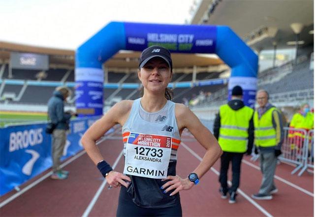 Александра Бородинова выиграла марафон в Хельсинки-2021